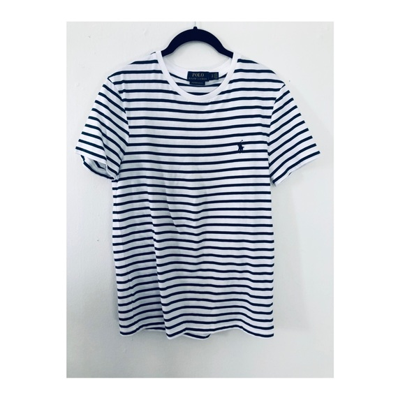 Polo by Ralph Lauren Other - Men's slim fit t shirt. Navy and white stripes.